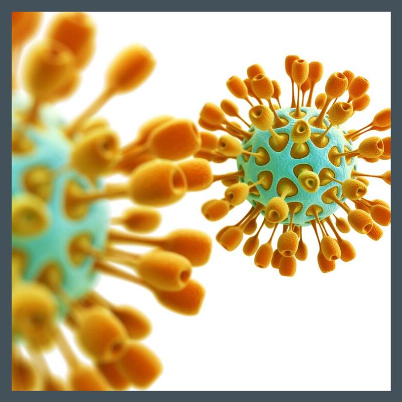 Artistic Illustration of virus-like organism.