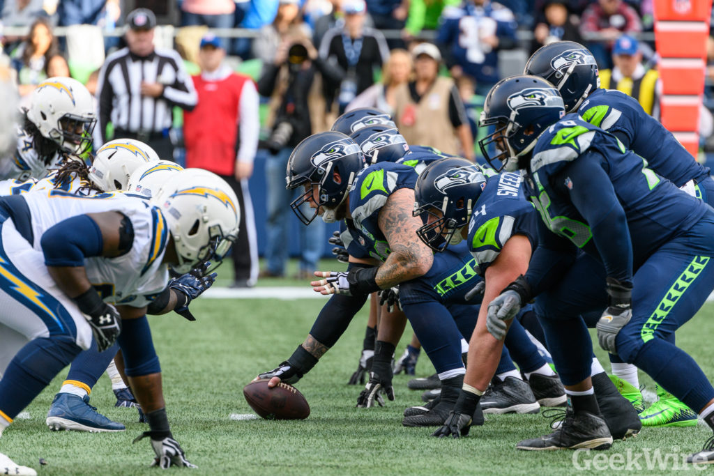 The Seattle Seahawks ready to play football
